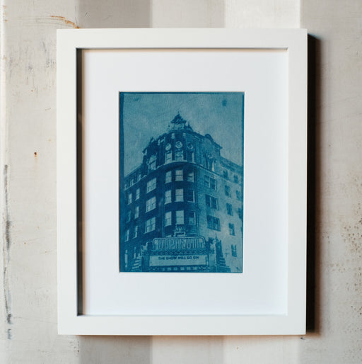 """The Orpheum Theatre"" Framed Cyanotype"