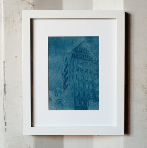 """The Hillcrest""Framed Cyanotype"