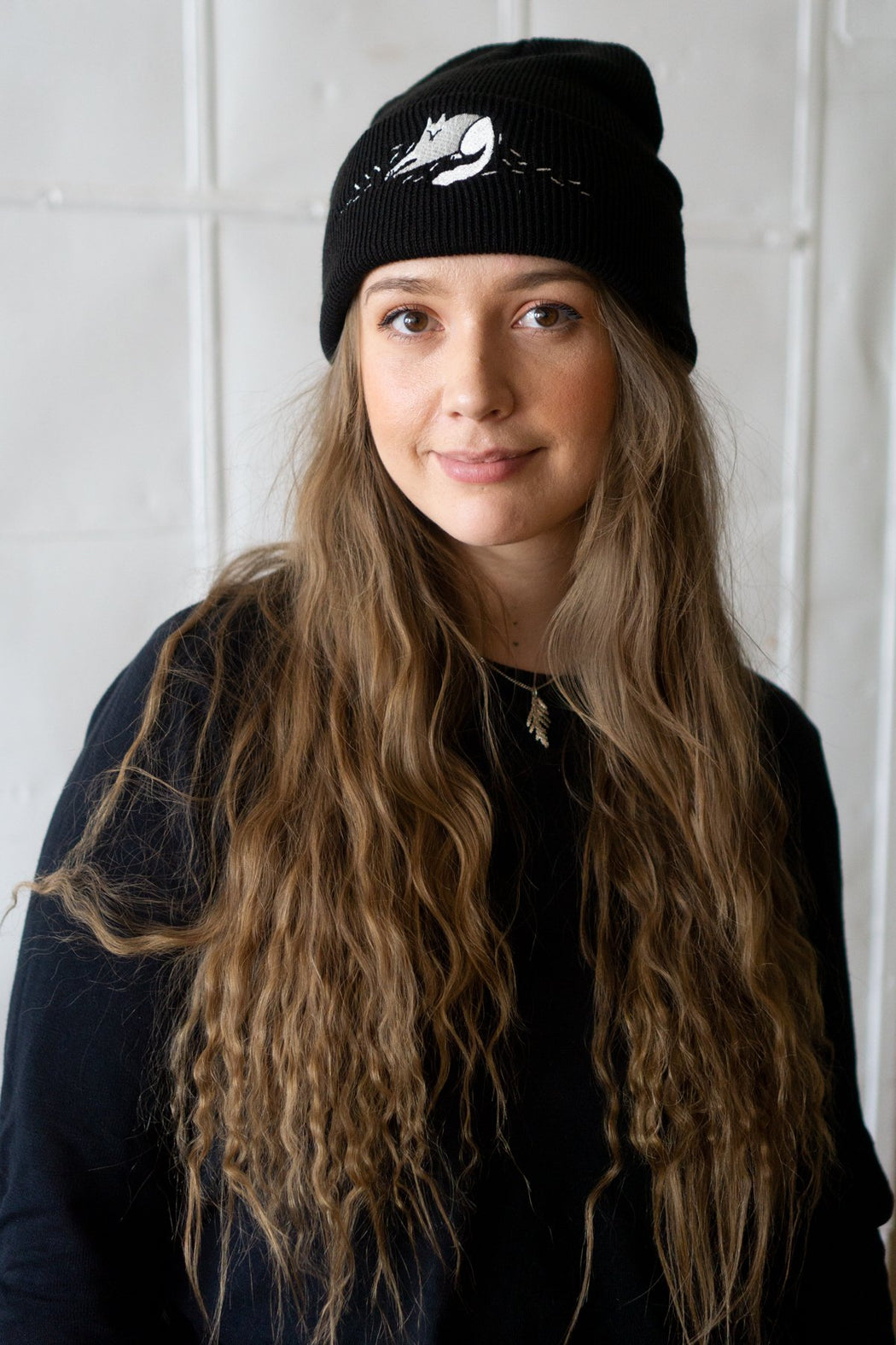 """(Cat) Hair Everywhere"" Embroidered Beanie"