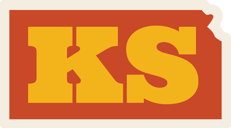 """State of Kansas"" Sticker"