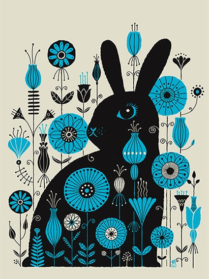 """Flower Bunny"" Screenprint"