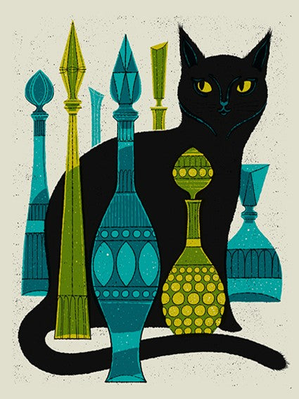 """Bottle Cat"" Screenprint"