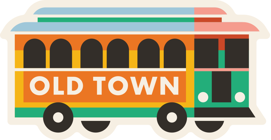 """Old Town"" Sticker"