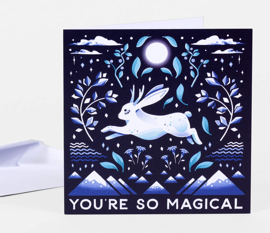 """You're So Magical"" Jackalope Greeting Card"
