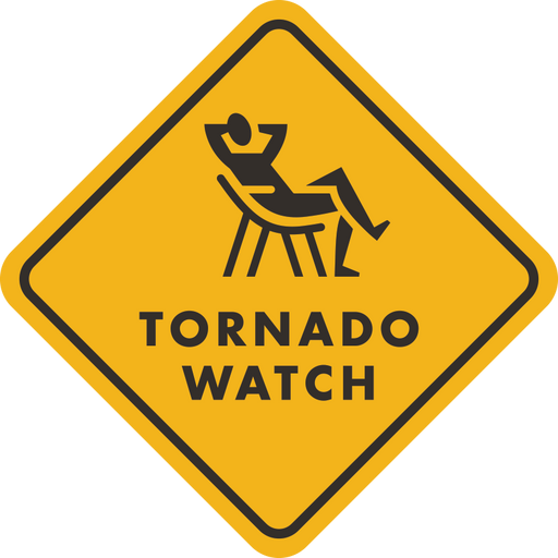"""Tornado Watch"" Sticker"