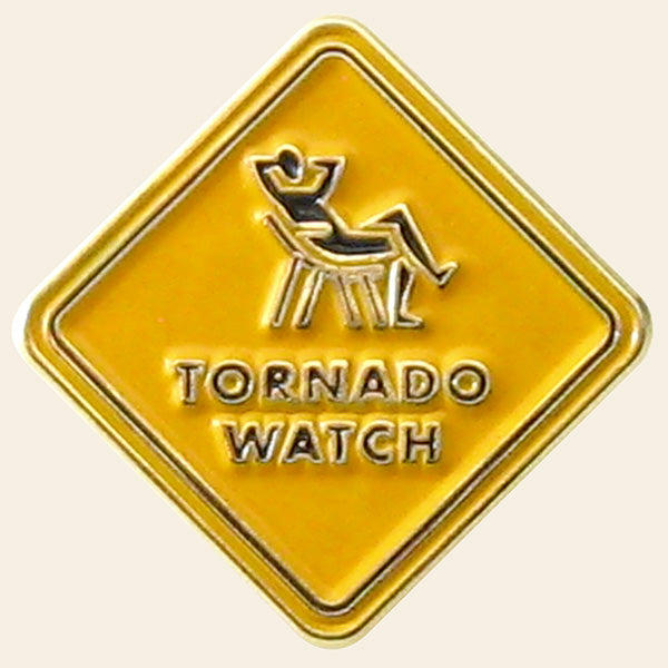 """Tornado Watch"" Lapel Pin"
