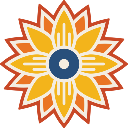"""Wichita Sunflower"" Sticker"