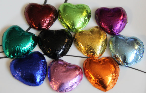 Mona's Chocolate Foil Hearts Wedding Party Favors