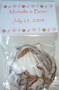 Wedding Beach Themed Seashell Chocolate Party Favors