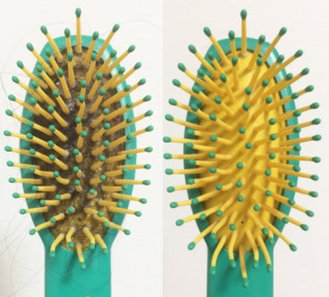 Clean hairbrushes with ease!