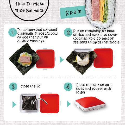 How to make Japanese riceball-wich