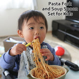 Pasta Fork and Soup Spoon Set for Kids