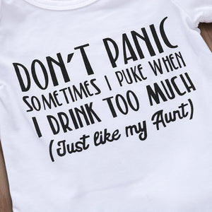 Don't panic English alphabet one piece