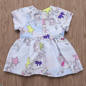 Meteor Rainbow Print Children's Skirt