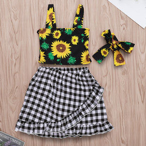 Sunflower bow-knot set