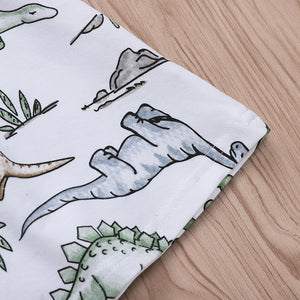 Dinosaur Cartoon Paradise Print Skirt