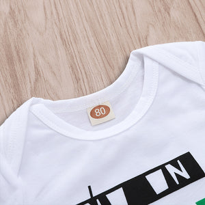 Palm Leaf Letter Short Sleeve Dot Set
