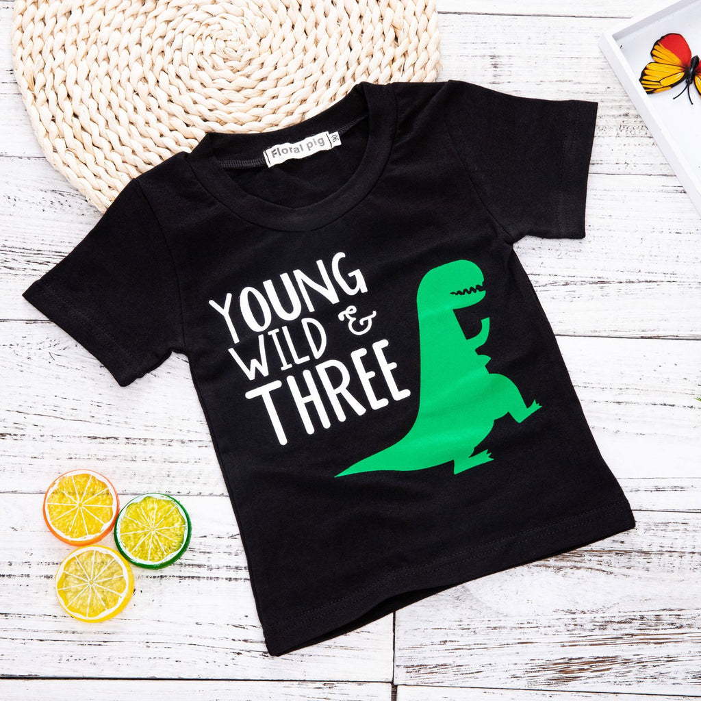 Dinosaur Shadow Print Kids T-Shirt