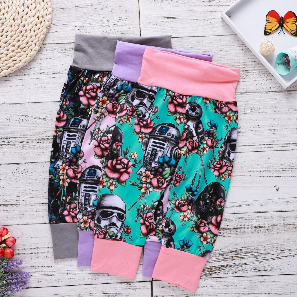 Galaxy Warrior Helmet Flowers Surround Children's Pants