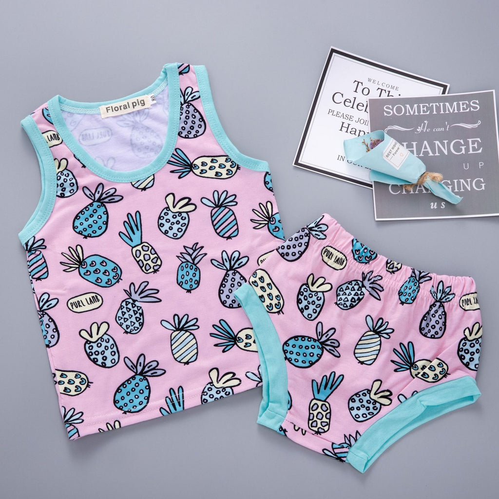 Small pineapple print children's suit