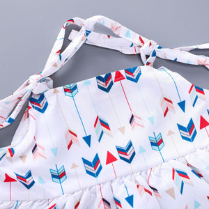 Colorful arrow pattern sling set