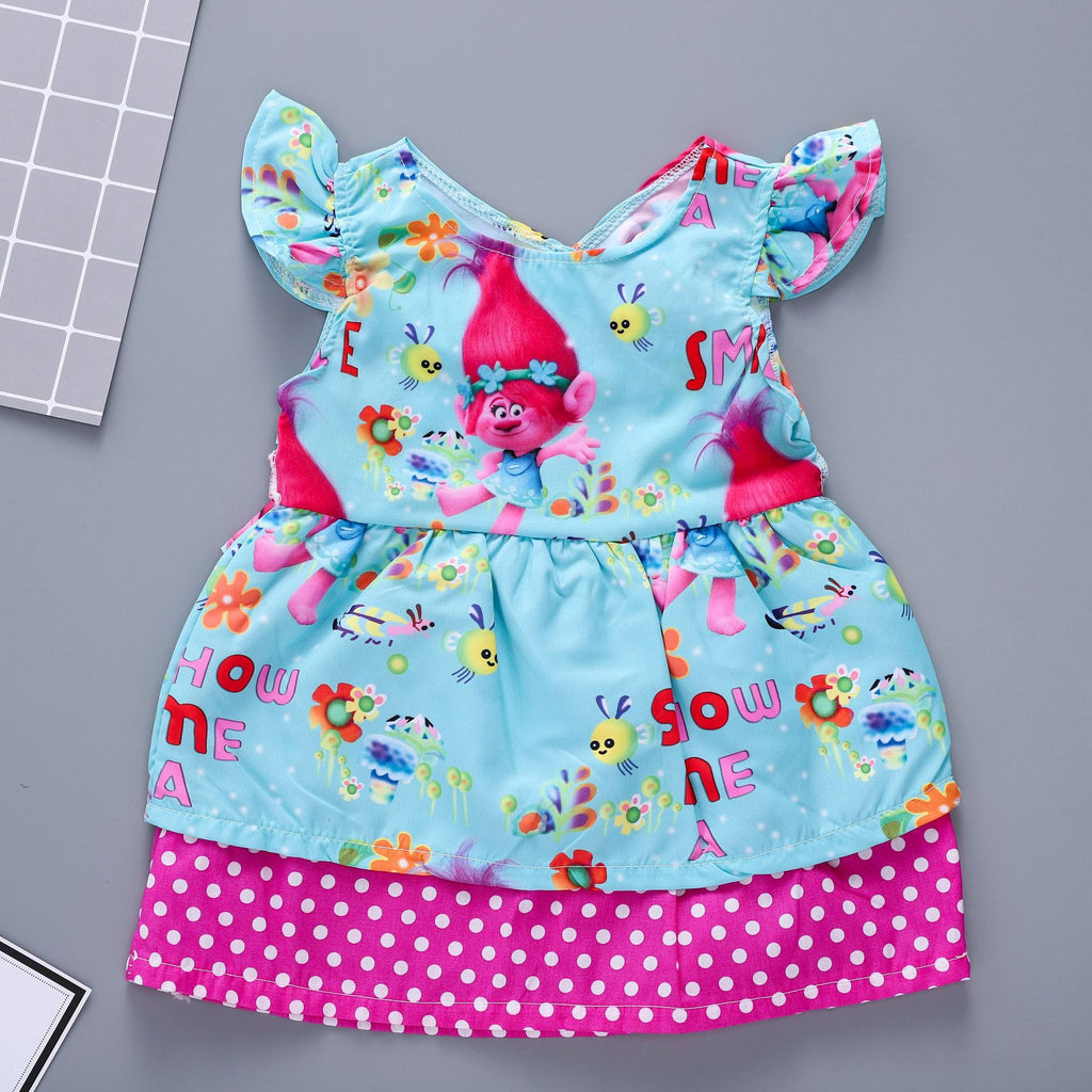 Cartoon world print dress