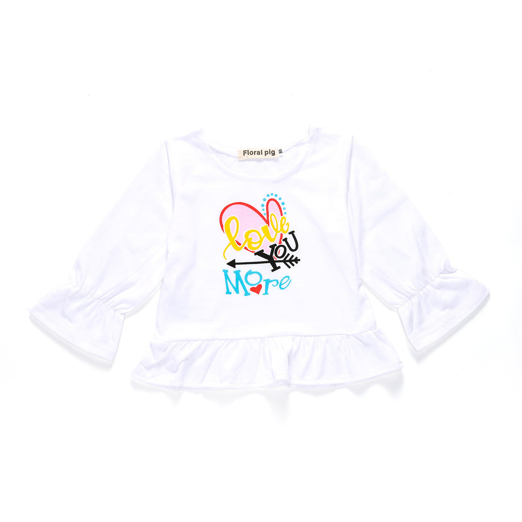 Love you more than heart arrow print children's T-shirt