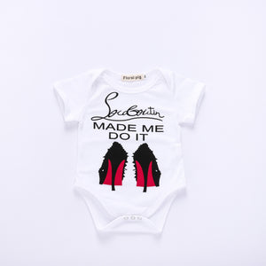 High-heeled English letter print children's suit