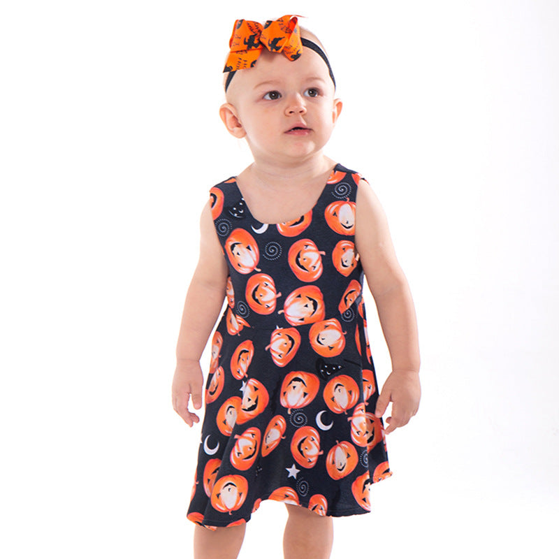 Smiley Pumpkin Magic Wand Halloween Dress
