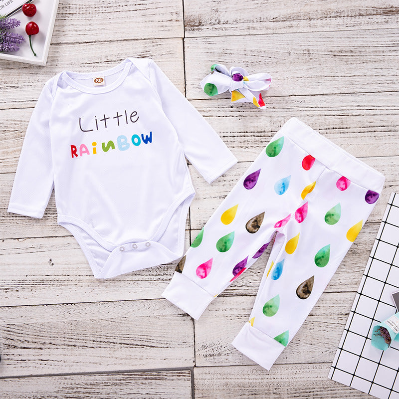 Colorful Raindrops Alphabet Kids Set