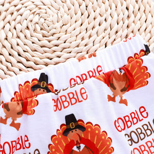Thanksgiving Cartoon Turkey Print  Set
