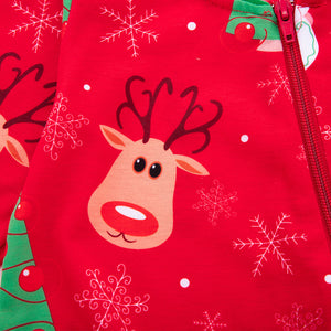 Christmas old man and deer romper