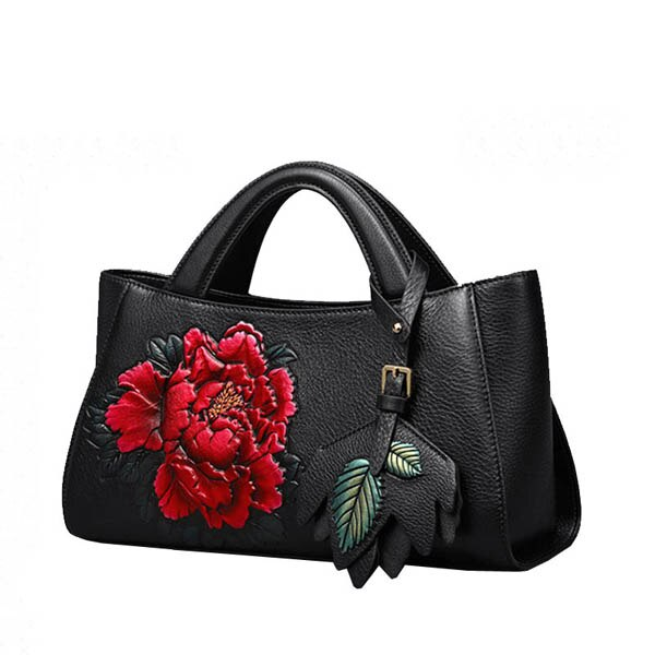 SUWERER Women's Genuine Cowhide Leather Fashion Handbag.