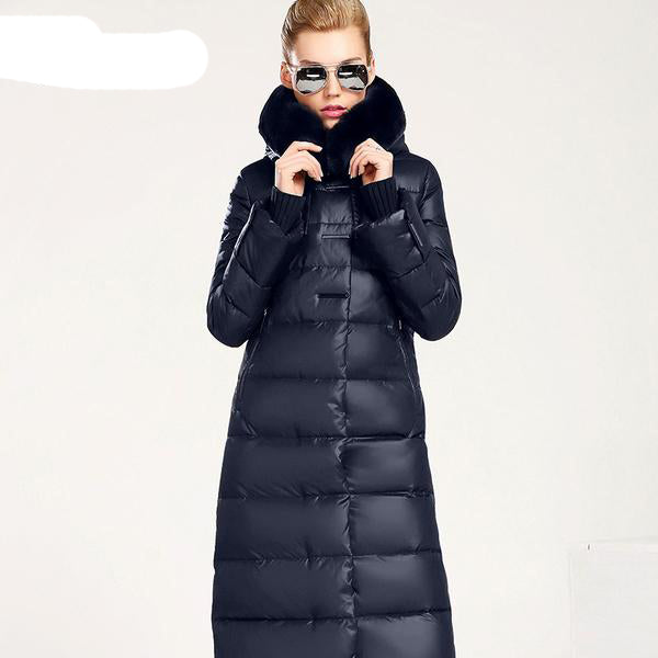 Women Coat Jacket Medium Length Woman Parka With A Rabbit Fur Winter Thick Coat Women MIEGOFCE 2017 New Winter Collection Hot