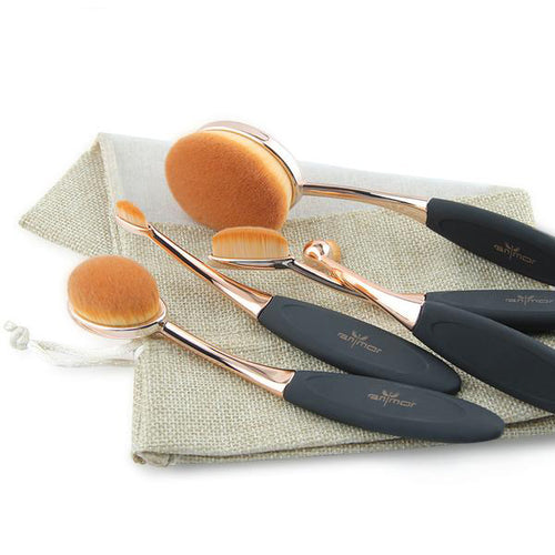 5pc Oval Makeup MULTIPURPOSE Brush Set.