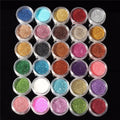 30 Pc Mixed Long Lasting Powder Colors and Pigment Glitter Makeup Set.