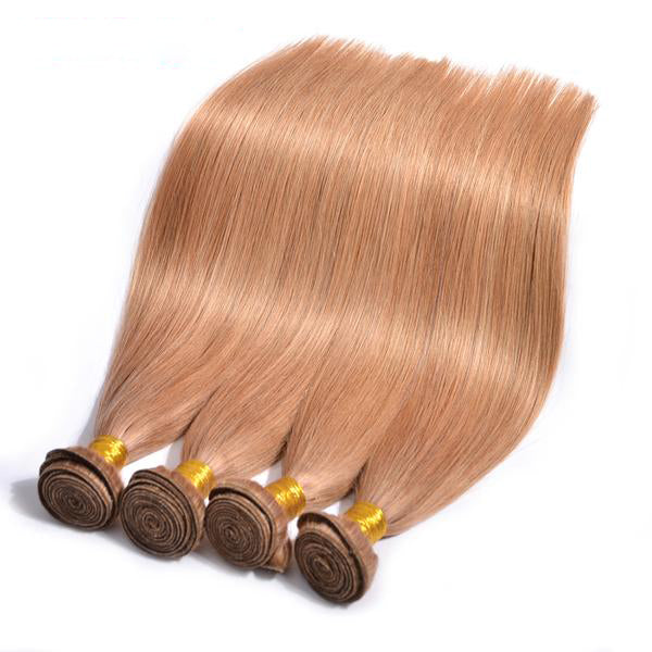 Wonder girl Color 27 Honey Blonde Brazilian Straight Hair  100% Human Hair Bundles 12-24inch Non-remy Free Shipping 1 Piece
