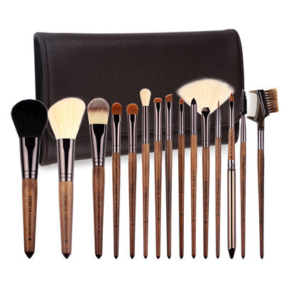 ZOREYA Brand Make Up Brushes 15pcs Professional Cosmetics brush With PU Bag As Makeup Tool For Beauty Essential Brush Set