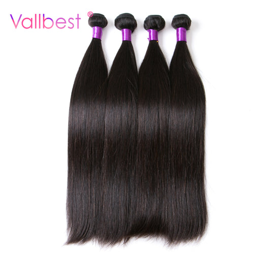Vallbest Human Hair Bundles Brazilian Straight Hair Extension Weaving 1B Black Can Buy 3 Brazilian Hair Weave Bundles Non Remy