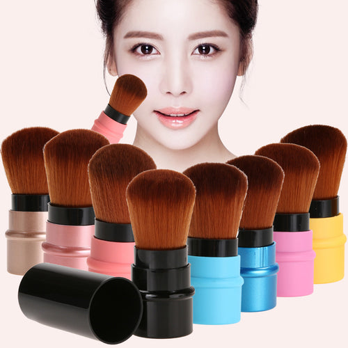 Portable 1PC Retractable Blush Makeup Brush Retractable Pro Foundation Cosmetic Blusher Face Powder Brushes Beauty Makeup Tools