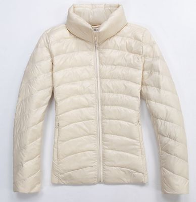Ultra Light Women's Autumn, Winter Down Jacket W/Zip Pockets.
