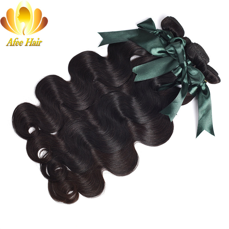 Ali Afee Hair, Brazilian Body Wave Remy Human Weave Bundles. Natural Black Hair Extension, 1 Piece  8-28 Inches.  Free Shipping!