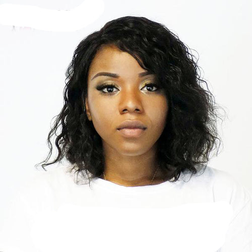 Lace Front Human Hair Bob Cut Wigs For Black Women With Baby Hair Short Wig Brazilian Wavy Non-remy Hair Bleached Knots You May