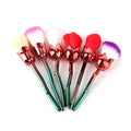 6 Pc Rose Shaped Makeup Brush Set.