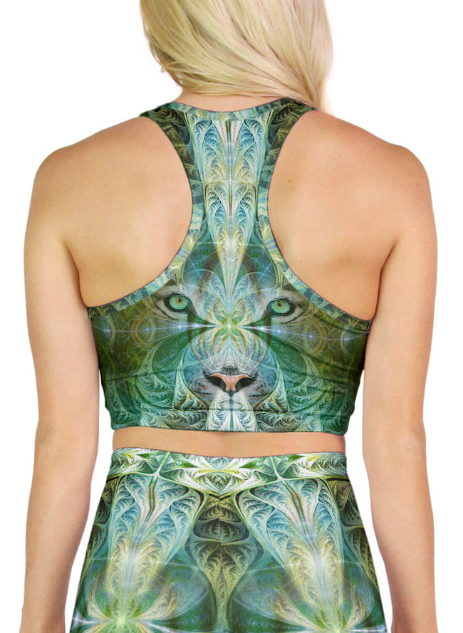 White Tiger Sinha | Crop | Top | Racerback | Yoga | Gym | Workout | Rave | Festival | Outfit | Clothing | Aesthetic | Sports | Bra
