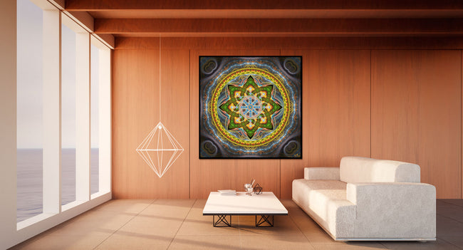Alpha Centauri Sacred Geometry Wall Hanging | Mandala | Tapestry | Spiritual | Flower of Life | Visionary | Art