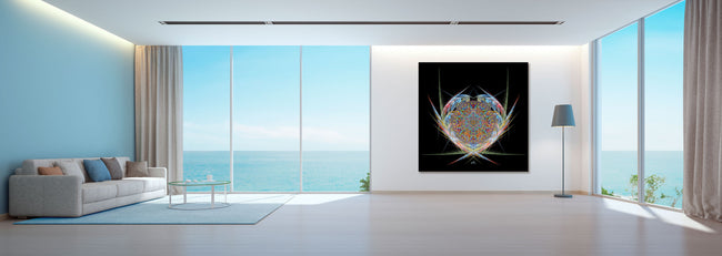 Dreamcatcher Mandala Tapestry | Wall Hanging | Shamanic Art | Spiritual | Psychedelic Art | Sacred Geometry | Visionary | Psy | Art