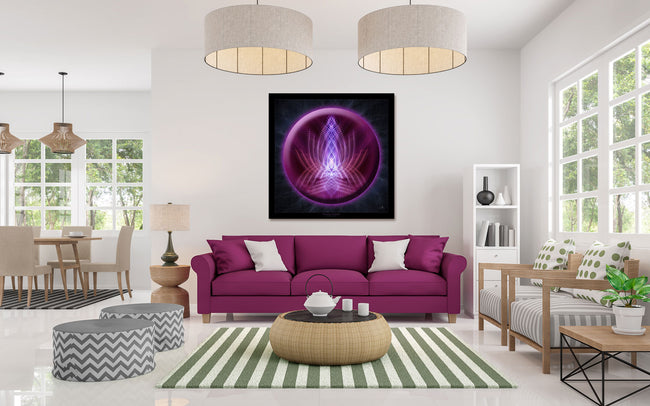 violet flame healing wall hanging