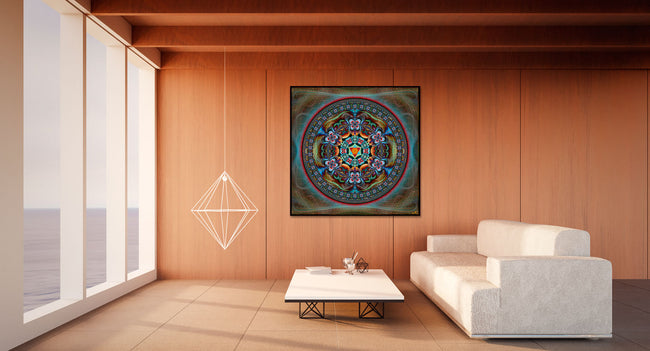 Ipomea Mandala Tapestry | Wall Hanging | Shamanic | Spiritual | Psychedelic | Sacred Geometry | Ayahuasca| Psy | Art