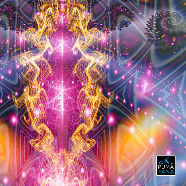 Awakening Cosmic Art Print | Canvas | Gaia | Meditation | Spiritual | Earth | Visionary | Consciousness| Art